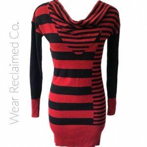 🛍 3/$30 BISOU BISOU Sweater Dress w/Cowl Neck. Sm